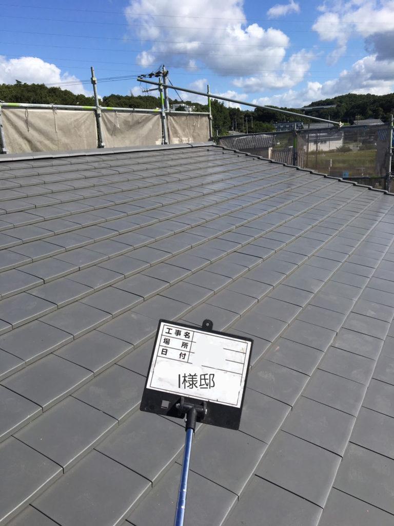 新築 平板瓦 屋根工事 (鶴弥 スーパートライ110 クールグレー)