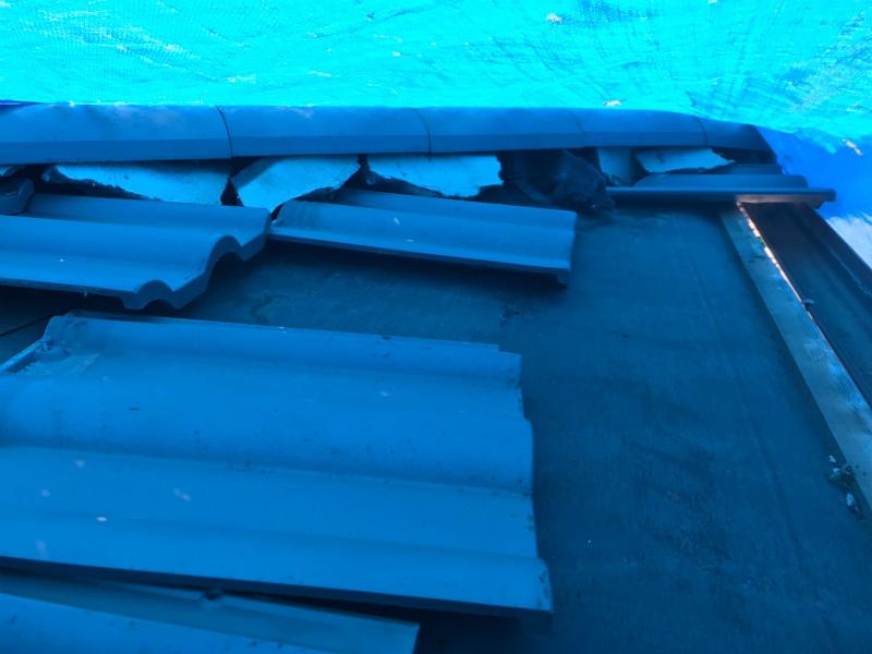 大型台風発生後は必ず屋根のメンテナンスが必要です!