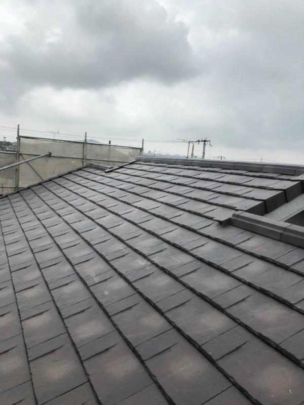 三木市 地震台風に強い軽量瓦 ROOGA葺き替え完成!