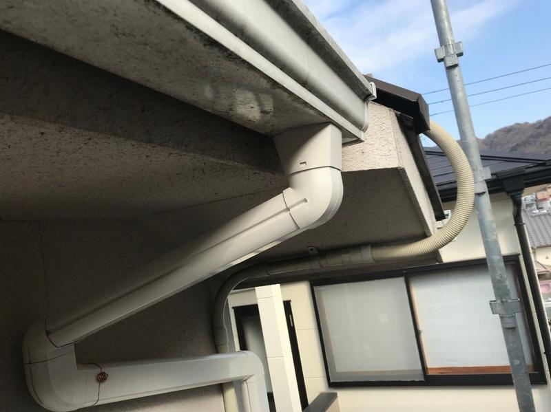 台風被害のため火災保険を使用しての雨樋補修工事