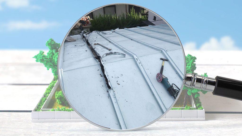 立平葺き(たてひらぶき)屋根の施工事例をご紹介します。