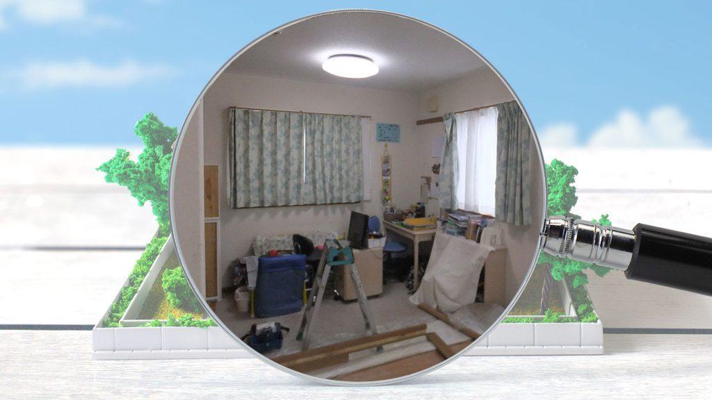 お部屋の間仕切り施工で、余ったスペースを有効活用。