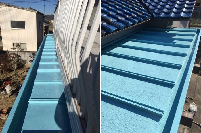 金属屋根を塗装で補修リフォーム