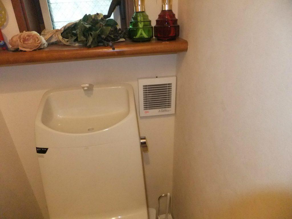 トイレの換気扇を新しく交換しました。
