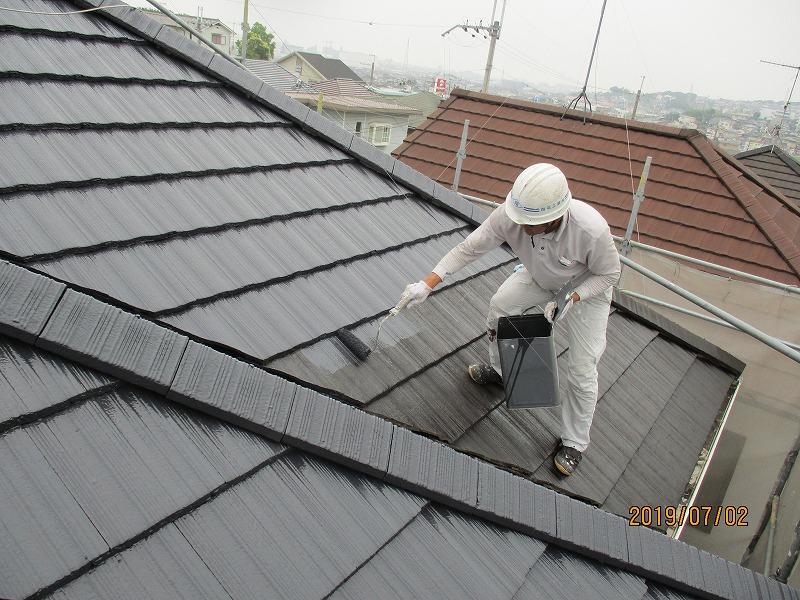 明石市 リピートお客様 屋根・外壁塗装工事完了です!