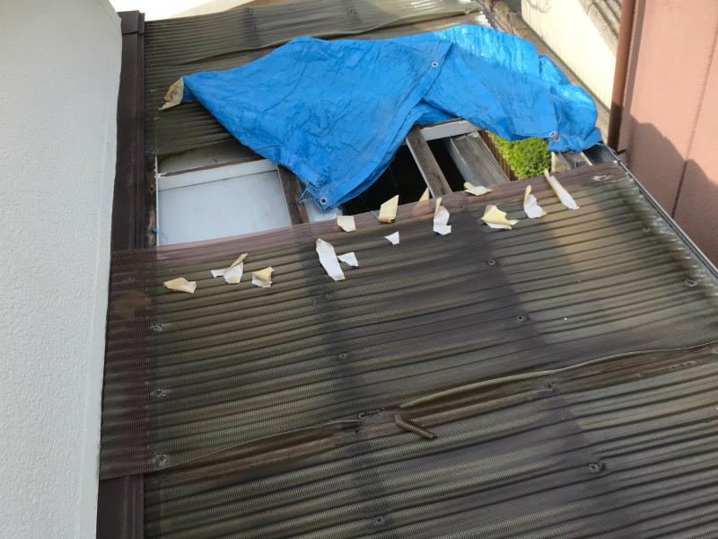 堺市 台風21号復旧工事完成しました。
