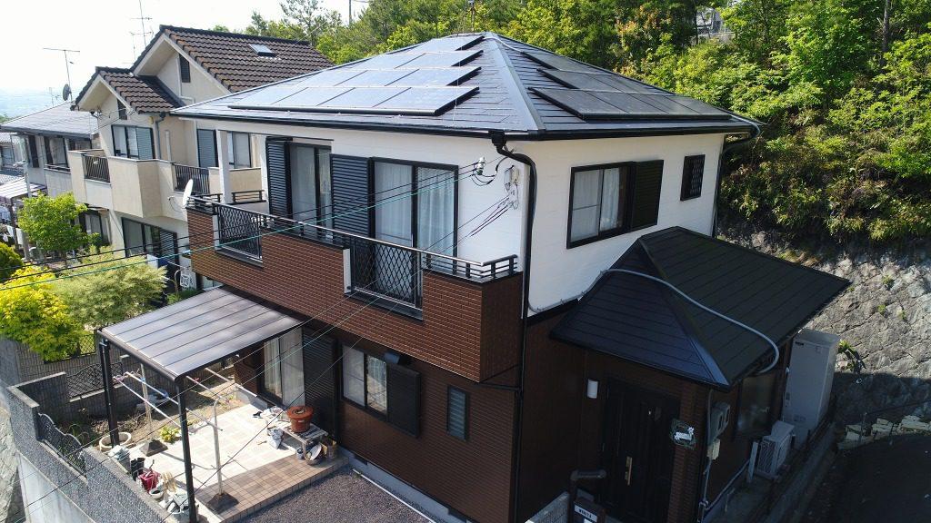 まるで新築!屋根・外壁まるごと塗装で、まったく別の家のような仕上がりに。
